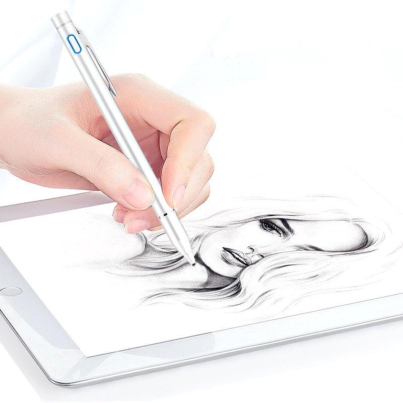 High precision Pen Active Stylus Capacitive Touch Screen For iPad mini 4 3 2 ipad mini4 mini3 mini2 Tablets Case NIB1.3mm Pencil cute mini mushroomhead style capacitive touch screen stylus silver