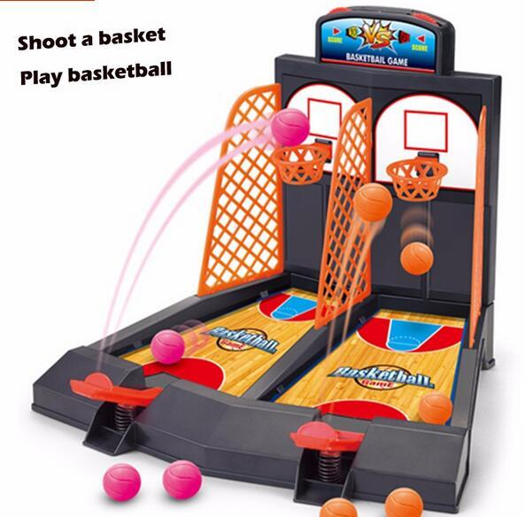 2016 hot desktop basketball Mini Finger Shoot a basket Child table games Double play interaction toy Model Building Fun toy gift