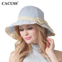 Elegant Women Bow Sun Hats Bucket Fedoras Ladies Summer Seaside Beach Sun Visor Caps 2017 Fashion