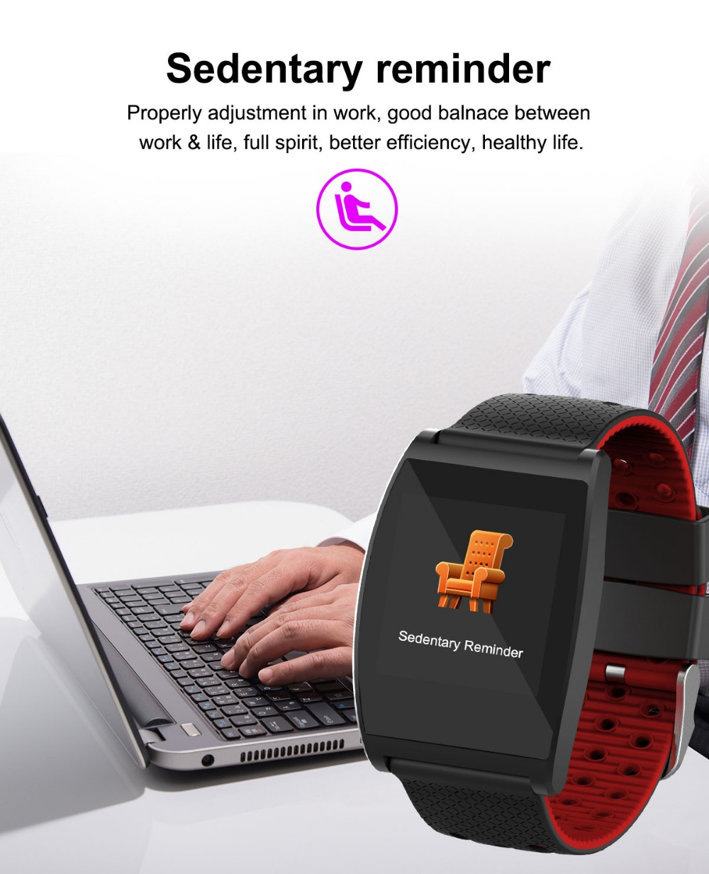 2018 Smart Watch QS05 Wristband With Blood Pressure Blood Oxygen Heart Rate Monitor Sports Activity Tracker Fitness Smartwatch (10)