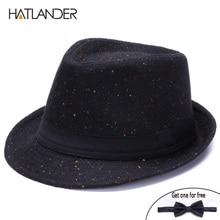 HATLANDER Retro Gentleman panama fedora hat mens Jazz billyc