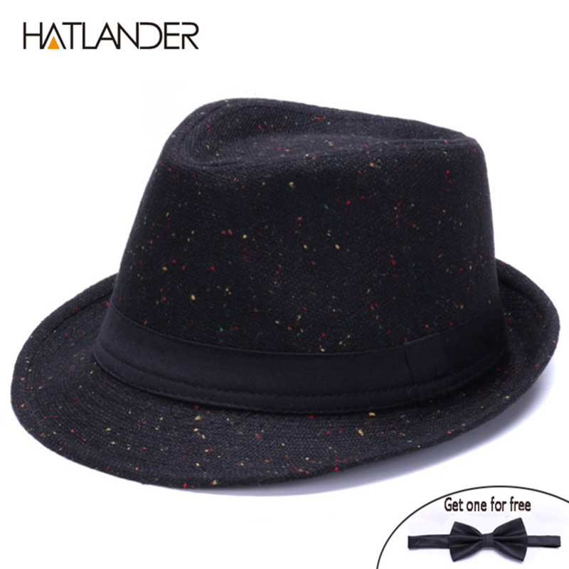 f9ab0c8a817 HATLANDER Retro Gentleman panama fedora hat mens Jazz billycock cap outdoor  trilby chapeau Derby church hats top fedoras