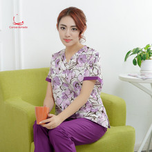 Korean version of fashion beauty womens hospital dentists printed medical hand-washing clothes surgical uniforms nurses