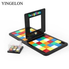 YINGELON Funny Magic Block Game 3D Cube Board Game Kids Adults Education Toy Gift Moving Colorful Family Party Games Toys