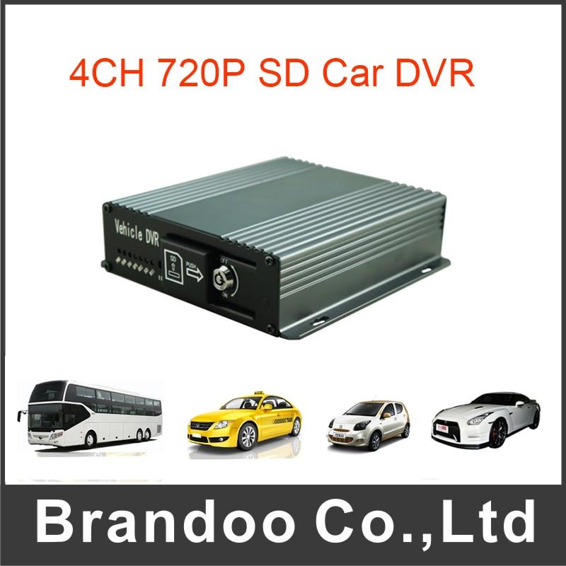4 Channel AHD 720P Mobile DVR for Vehicle Car Bus Taxi Fleet inexpensive gps car dvr mobile dvr 4ch 720p vehicle dvr for car bus taxi