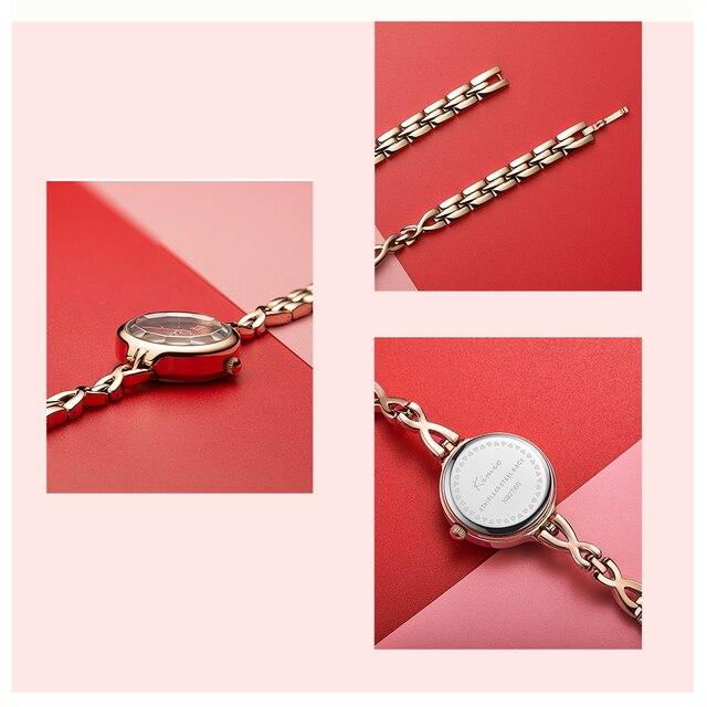 KIMIO Women Wristwatches Full Stainless Steel Bracelet Watch Hollow Pointer Japanese Movement Ladies Quartz Watch Reloj Mujer