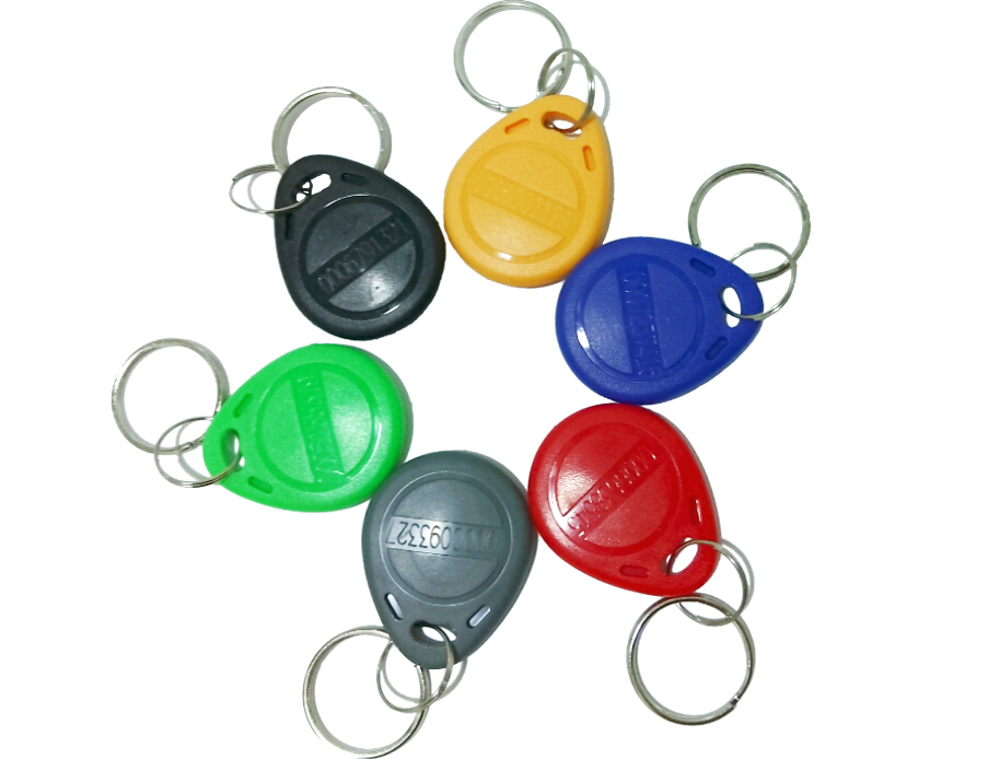 1000pcs/lot RFID Tags Token Key Fobs Rfid tag TK4100 125khz Card For Access Control 6 Color Free shipping diysecur 50pcs lot 125khz rfid card key fobs door key for access control system rfid reader use red