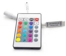 цена на 10sets one lot Mini 24 Key IR Remote Controller For RGB 3528 5050 SMD LED Strip Lights 12V 6A