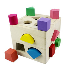 Exempt postage 2013 child mental box shape blocks geometry puzzle wooden toys baby