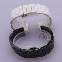 Promotion White Watchband Pure Ceramic Beautiful Watch Bracelet Strap For Dress Watch Saat Hour Fashion Deployment