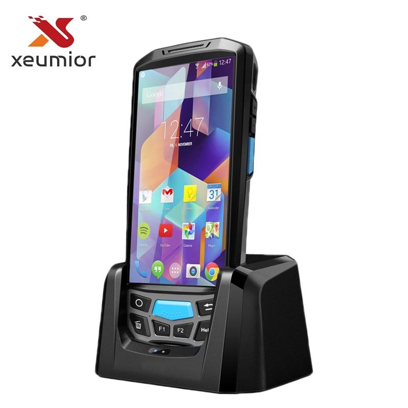 Android 7.0 4G Handheld POS Terminal de Dados Do Computador Impressora De Wi-fi Bluetooth NFC Leitor RFID UHF PDA Scanner de código de Barras com exibição