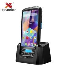 Ordenador portátil con Android 7,0, 4G, colector de datos POS, Wifi, Bluetooth, UHF, NFC, PDA, lectora de códigos de barras RFID, escáner con pantalla