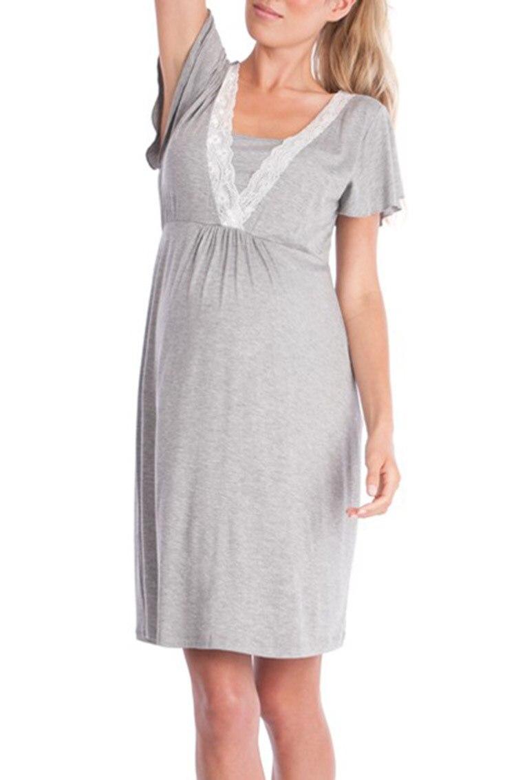 a83e55ca6 Compre Gravidez Maternidade Pijama Pijamas Enfermagem Grávida Pijama ...