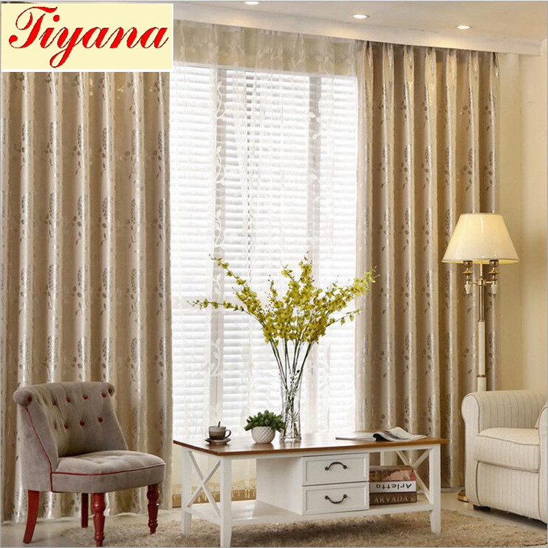 Off White Screening Window Blackout Curtains Cloth Tulles Bedroom Cotton Drape Textile Living