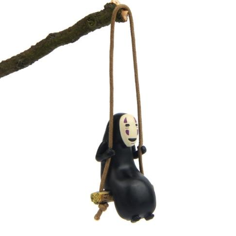 Resin Swing No Face Men Action Toy Figures Miyazaki Cartoon Princess Mononoke Kids Gifts Wholesale 379