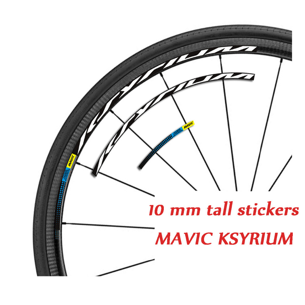 MAVIC bicycle chainstay protector sticker decal chrome vintage style FRAME
