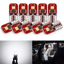 10x T10 Led W5W Car Interior LED Bulb Canbus For Skoda Octavia 2 A7 A5 Armrest ii Fabia Rapid Superb 1 3 Yeti Felicia Rs Citigo