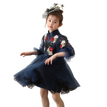 New Childrens dress 2019 new princess stage host performance catwalk piano costumes pettiskirt