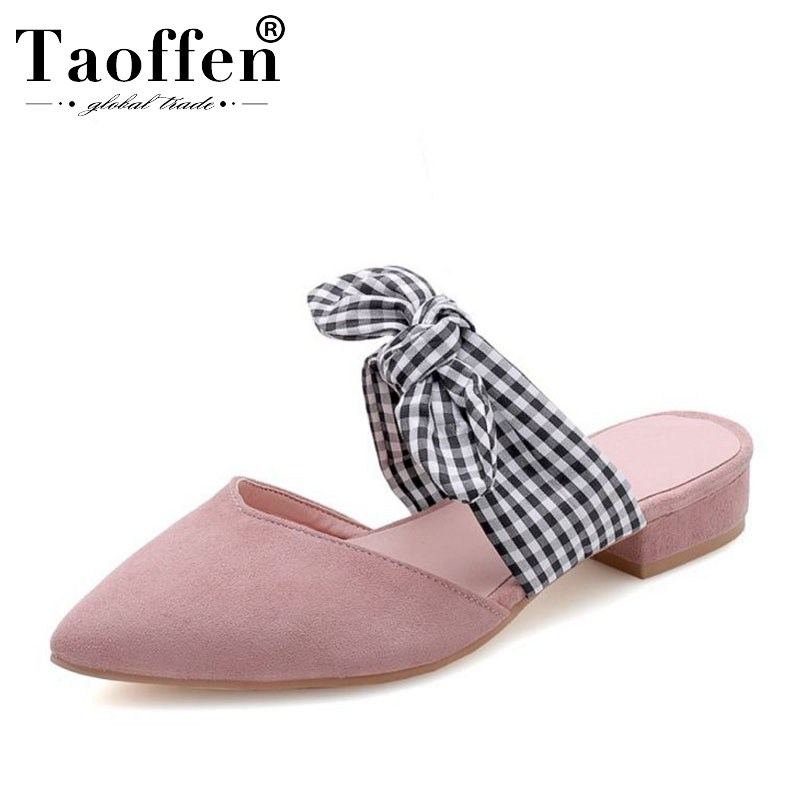 TAOFFEN High Quality Size 33-46 Spring Bowknot Hot Sale Simple Sandals Party Dating Young Club Flats Shoes Women Daily SandalsTAOFFEN High Quality Size 33-46 Spring Bowknot Hot Sale Simple Sandals Party Dating Young Club Flats Shoes Women Daily Sandals