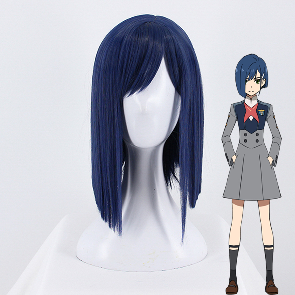 Anime DARLING In The FRANXX Cosplay Wigs Ichigo Cosplay Hair Wig Heat Resistant Synthetic Wig Halloween Party Women Cosplay Wigs