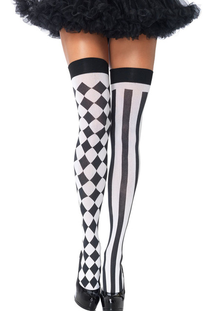 High Stockings 2 Colors Cross Print Stockings