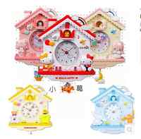 Cartoon children's room Gemini KT cat Melody rocking wall clock girl princess house creative wall clock Melody