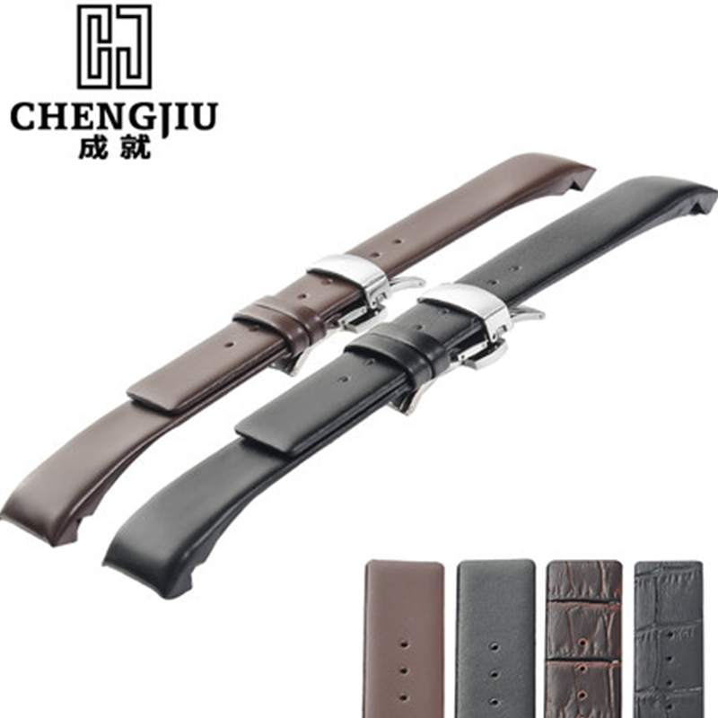 22mm Calf Skin Leather Watch Band With Buckle For CK Calvin Klein Watch Straps For Men Women Black Watchband Bracelet Belt Strap women crocodile leather watch strap for vacheron constantin melisa longines men genuine leather bracelet watchband montre