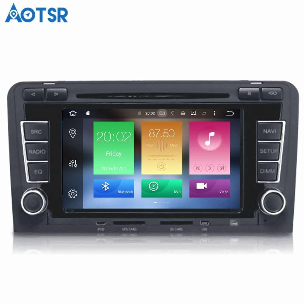 Aotsr アンドロイド 8.1 Gps ナビゲーション車の Dvd プレイヤーアウディ A3 S3 2003-2012 マルチメディア 2 din ラジオレコーダー 4 ギガバイト + 32 ギガバイト 2 ギガバイト + 16 ギガバイト