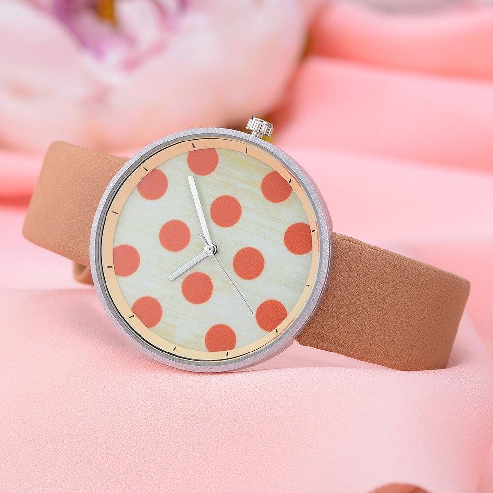 2018 Women's Quartz's Watches Fashion Leather Band Analog Quartz Round Wrist Watches rosefield watches women 8.31