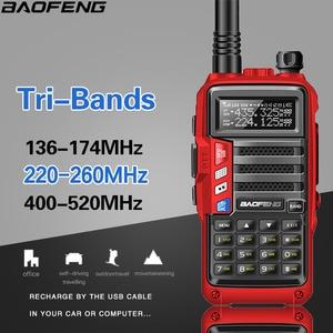 Image 2 - BaoFeng UV S9 8 ואט עוצמה Tri band 136 174/220 260/400 520Mhz 2 1xantenna חובב כף יד חם שתי דרך רדיו ווקי טוקי