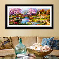 Hot 5D DIY Full Embroidery Landscape Diamond Painting Cross Stitch Dream House Diamond Mosaic Handmade Crafts