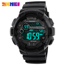 SKMEI Brand Men Sports Outdoor Watches 50M Waterproof LED Digital Watch Dive Shock Military Wristwatches 1243 Free Dropshipping все цены
