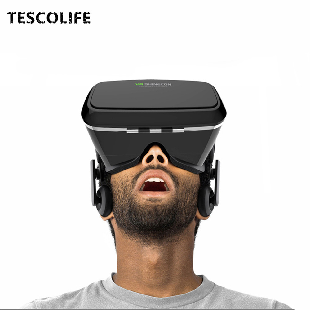 VR Box Shinecon1 VR BOX Casque Video 3D Gerceklik Google Cardboard Virtual Reality Goggles 3D Glasses