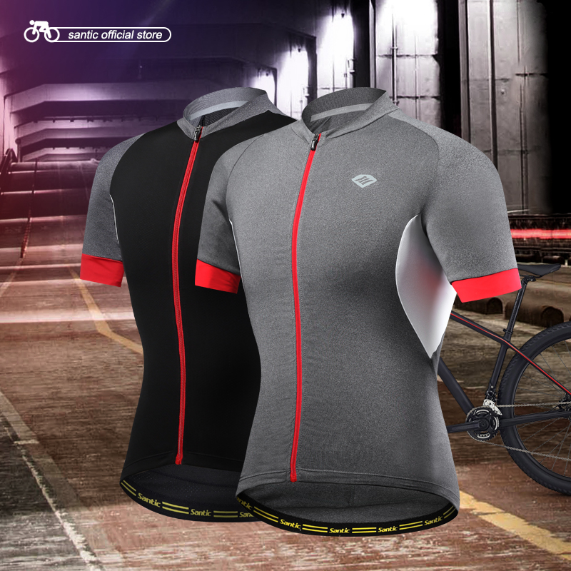 04a265462 Santic Men Cycling Short Jersey Pro Fit SANTIC N-FEEL High Tech Fabric Road  Bike