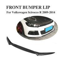3 sztuk zderzak przedni z włókna węglowego pokrywa rozszerzenie spojler wargi podbródka dla VW SCIROCCO R zderzak 2009 2014 w Zderzaki od Samochody i motocykle na