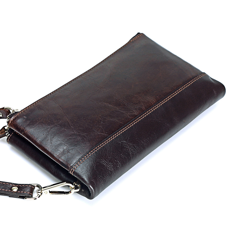 Luxury Shining Oil Wax Cowhide Vintage Men Clutch Bag Genuine Leather Male Long Wallets Multi Card Slots Purse Soft Handbag j50 p kuone men s clutch wallet luxury shining oil wax cowhide men clutch bag man long genuine leather wallets male coin purse bags