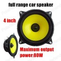 Free shipping hot sale a pair 2x80W high quality 4 inch automotive car speaker full range speaker car audio stereo speaker