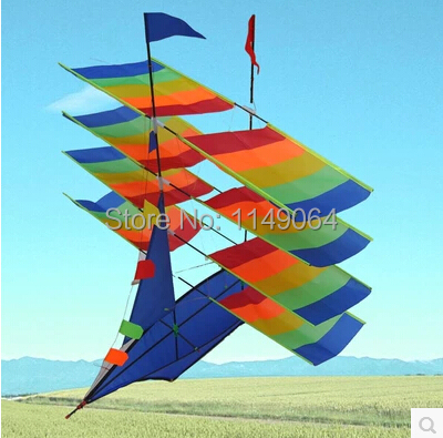 free shipping high quality 3D sail boat kite with handle line weifang kite flying new design kitesurfing hcxkite factory
