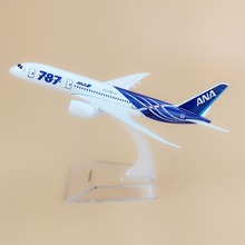 Alloy Metal Japan Air ANA B787 Airlines Airplane Model ANA Boeing 787 Airways Plane Model Stand Aircraft Kids Gifts 16cm