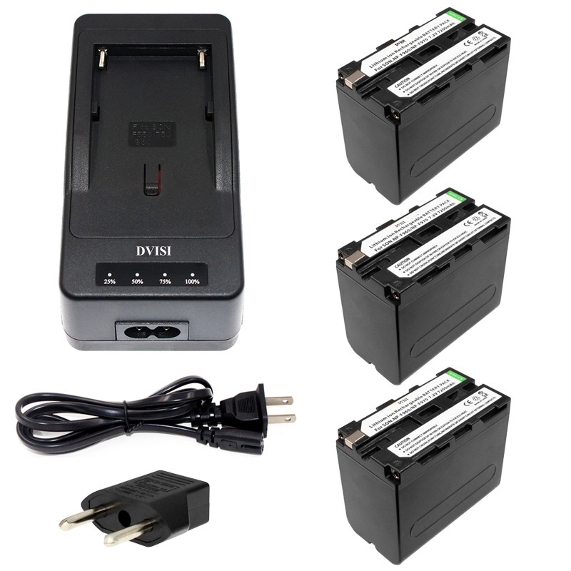 3pcs NP-F970 F970 NP-F960 Rechargeable Battery+1Quick Rapid Charger for SONY MVC-FD90 FD91 FD92 HVR-HD1000 F975 F970 F960 2pc 7200mah np f960 np f970 np f960 np f970 rechargeable li ion battery lcd fast charger for sony hvr hd1000 hvr hd1000e hvr v1j