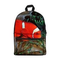 New 2017 Kawaii canvas Backpack for Girls Fashion Children School Bag Cute fish Backpack Kids School Backpack
