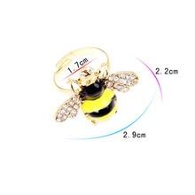 Min.order adalah $ 10 (pesanan campuran) Penghantaran Percuma & Fesyen Kecil Nice Bee Cincin, Cincin Terbuka Boleh Laras # R39