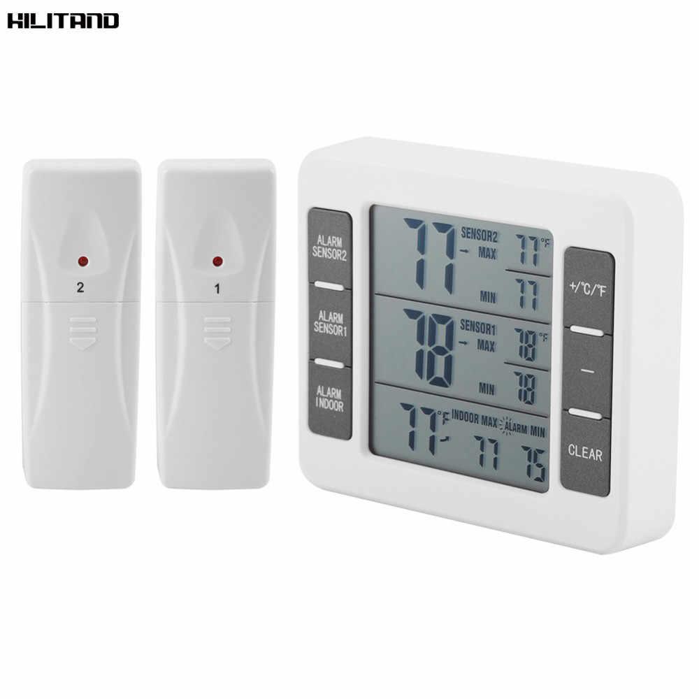 Testeur de Station météo de compteur de température de thermomètre numérique avec l'affichage sans fil de valeur minimum de C/Fmaximum Transmitter0-50C extérieur