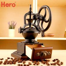 Free shipping Hand grinding coffee machine grinder retro hand Taiwan iron wheel beans apparatus Coffee machine