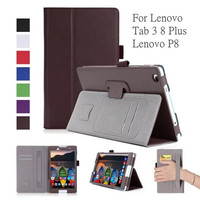Leather Case For Lenovo Tab3 8 Plus P8 TB 8703 TB 8703F 8 Tablet Stand Cover