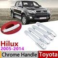 Для Toyota Hilux AN10 AN20 AN30 SR5 2005 ~ 2014 хромированные дверные ручки крышки наклейки на автомобиль отделка комплект 2007 2008 2010 2013