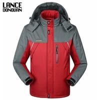 30 C FIT Plus Thick Velvet Down & Parka Coat 6XL 7XL 8XL 9XL 2019 Warm Winter Jacket Waterproof Windproof Men's Windbreaker