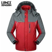 -30 C FIT Plus Thick Velvet Down & Parka coat 6XL 7XL 8XL 2014 winter jacket men waterproof windproof chaquetas hombre