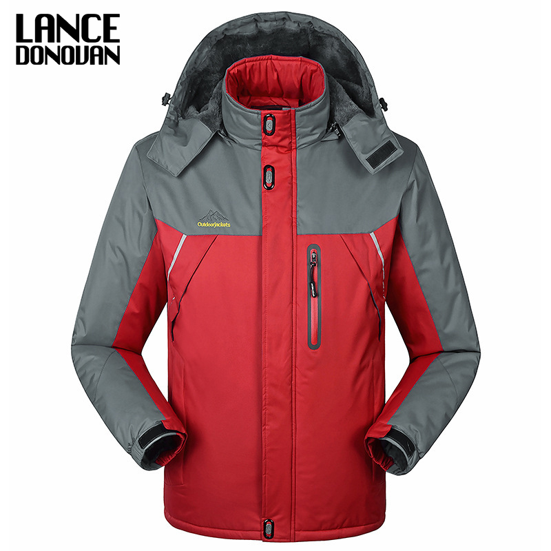 -30 C FIT Plus Thick Velvet Down & Parka coat 6XL 7XL 8XL 9XL 2017 Warm Winter Jacket Men waterproof windproof chaquetas hombre