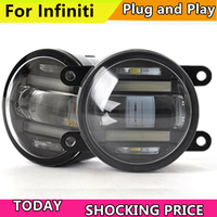 doxa Car Styling LED FOG LIGHT for Infiniti EX 25 35 FX 25 35 JX 25 35QX 25 27 35 37 LED Fog Light Auto Fog Lamp LED DRL
